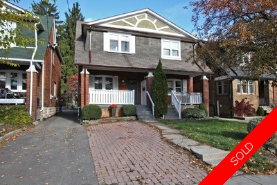 Mount Pleasant East Semi-detached for sale:  3+1  (Listed 2016-11-07)