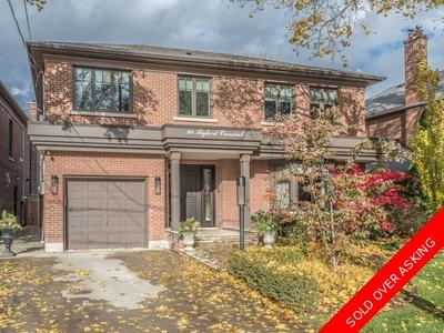 Leaside Detached for sale:  4 bedroom  Stainless Steel Appliances, Marble Countertop, Granite Countertop, Hardwood Floors 4,695 sq.ft. (Listed 2018-11-19)